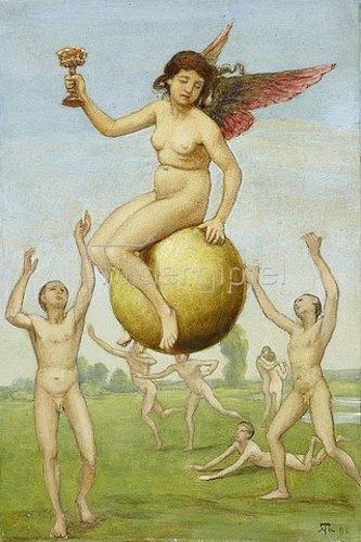 Hans Thoma: Das Glück (Schwebende Fortuna). 1886
