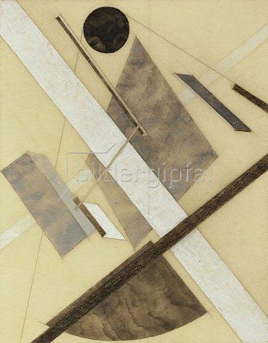 El Lissitzky: Proun: Energiepfad und Dynamische Ströme. Um 1920