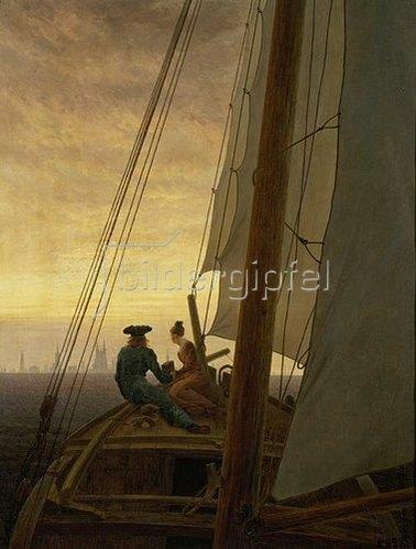Caspar David Friedrich: Auf dem Segler. 1819