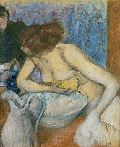 Edgar Degas: La Toilette. Um 1897
