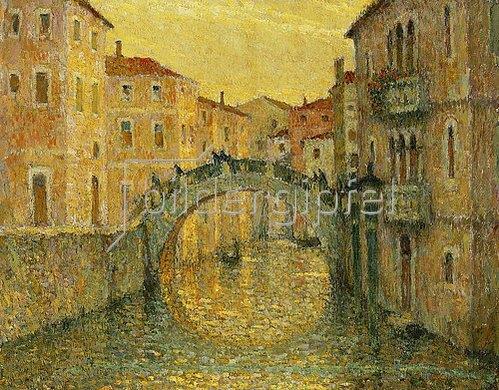 Henri Le Sidaner: Die Morgensonne in Venedig (Le Matin, Soleil, Venise). 1917