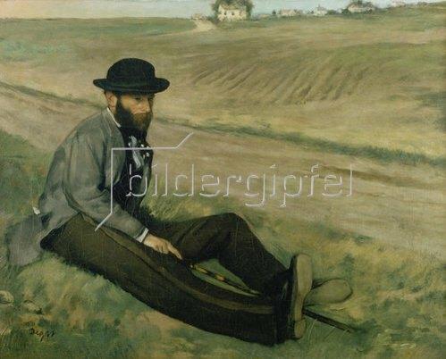 Edgar Degas: Bildnis Eugène Manet.