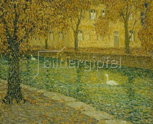 Henri Le Sidaner: Le Canal, Annecy. 1936