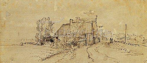 Rembrandt van Rijn: Eine Gaststätte am Straßenrand.