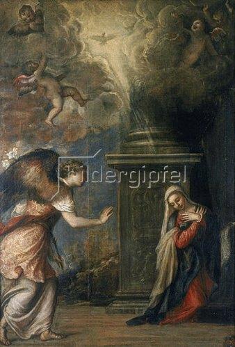 Tizian (Tiziano Vecellio): Die Verkündigung. 1557
