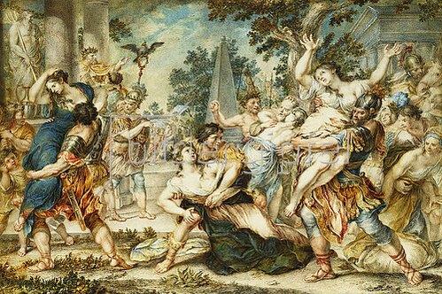 Römisch: Raub der Sabinerinnen. Um 1700