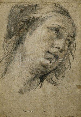 Guido Reni: Kopf einer Frau, nach rechts gewandt.