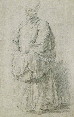 Peter Paul Rubens: Ein Jesuitenmissionar in chinesischem Kostüm (Nicolas Trigault?).