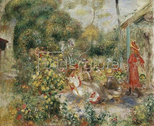 Auguste Renoir: Mädchen in einem Garten in Montmartre. Um 1893-95