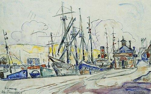 Paul Signac: Der Hafen von Fecamp. 1930