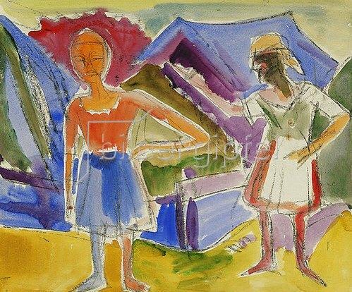 Ernst Ludwig Kirchner: Zwei Figuren.