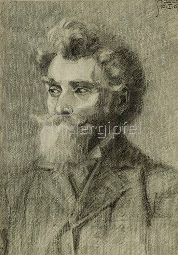 Egon Schiele: Portrait eines Mannes. 1907