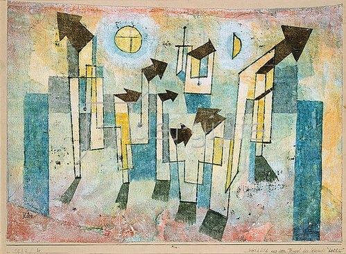 Paul Klee: Wandbild aus dem Tempel der Sehnsucht dorthin. 1922