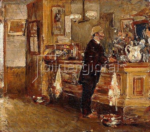 Frederick Childe Hassam: McSorley's Bar.