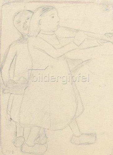 Paula Modersohn-Becker: Blasendes Kind. Um 1905
