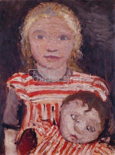 Paula Modersohn-Becker: Mädchen mit Puppe. Um 1903