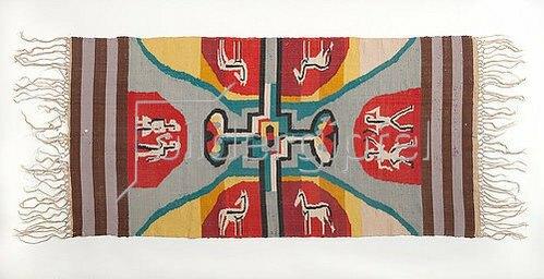 Ernst Ludwig Kirchner: Tischdecek mit Pferden. 1924/25