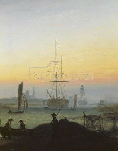 Caspar David Friedrich: Hafen von Greifswald.