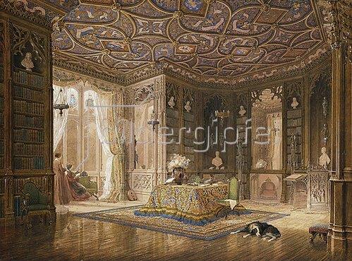 Frederick Mackenzie: Die Bibliothek von Stanmore Hall, des Wohnsitzes des wohlgeborenen Robert Holland.