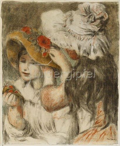 Auguste Renoir: Die Hutnadel. Um 1897
