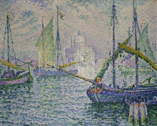Paul Signac: Venedig mit Segelbooten (Le Redempteur). 1908