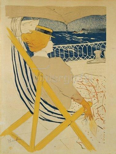 Henri de Toulouse-Lautrec: Dame an Bord einer Yacht. 1895
