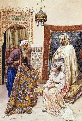 Giulio Rosati: Der Teppichverkäufer.