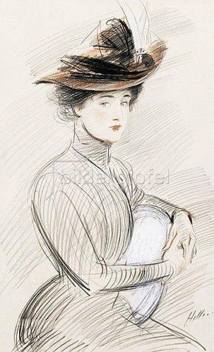 Paul César François Helleu: Bildnis einer eleganten Dame.