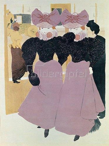 René Georges Hermann-Paul: Elégantes sur les Boulevards (Elegante Damen auf einem Boulevard). 1898