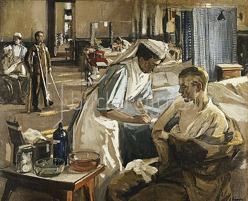 Sir John Lavery: Der erste Verwundete, London Hospital. August 1914