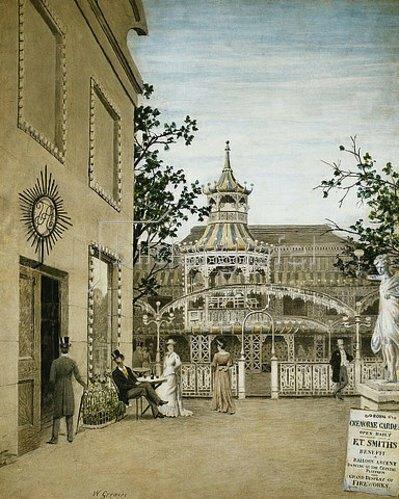 Walter Greaves: James McNeill Whistler besucht die Cremorne Gardens in Chelsea.
