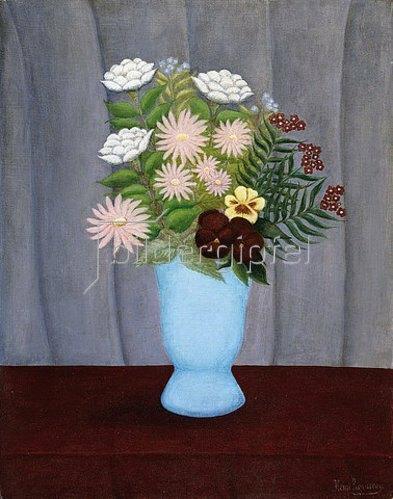 Henri Rousseau: Gartenblumenstrauß (Fleurs de Jardin). 1909-10