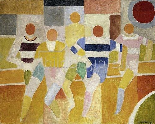Robert Delaunay: Die Läufer (Les Coureurs). 1926