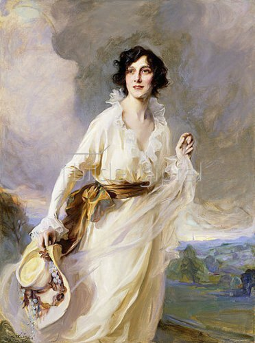 Philip Alexius de Laszlo: Bildnis von Lady Crosfield. 1923 (Die Portraitierte ist Miss Domini Elliardi, die 1907 Sir Arthur Henry Crosfield heiratete.)