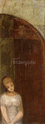 Odilon Redon: Junge Frau unter einem Bogen (Jeune femme sous une arche). Um 1886