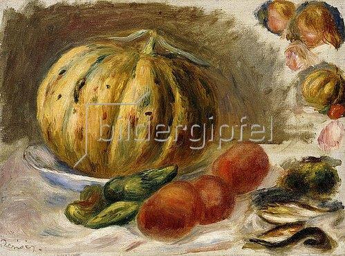 Auguste Renoir: Stillleben mit Melone und Tomaten (Nature Morte au Melon et Tomates). Um 1900