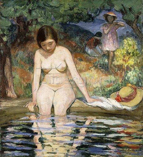 Henri Lebasque: Badende (Baigneuse). 1910