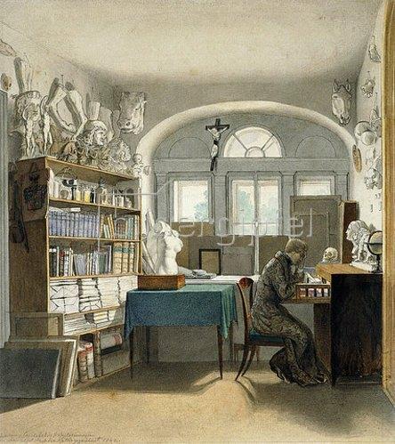 Carl Schnorr von Carolsfeld: Der Künstler in seinem Studierzimmer. 1842