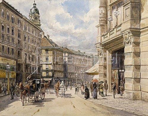 Ferdinand Weckbrodt: Der Graben in Wien.