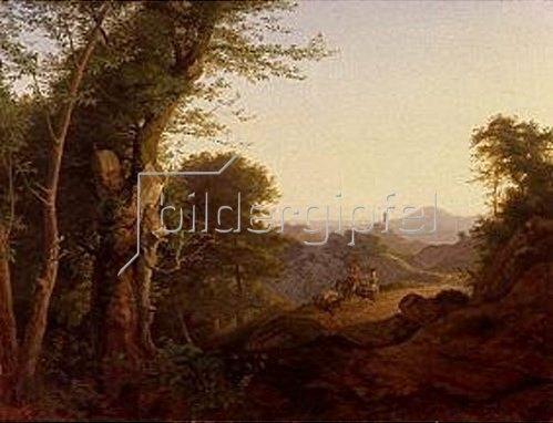 Ludwig Richter: Wald bei Olevano (Serpentara). 1829.