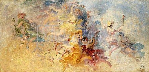 Jules Cheret: Frühling. 1900