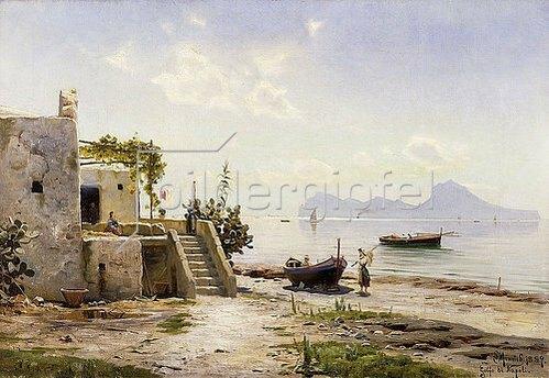 Peder Moensted: Blick von Sorrent nach Capri. 1889