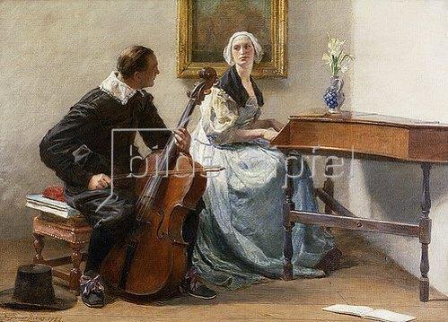 John Seymour Lucas: Ein fragender Blick. 1922