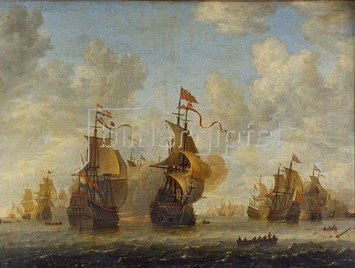 Jan Beerstraten: Seeschlacht.