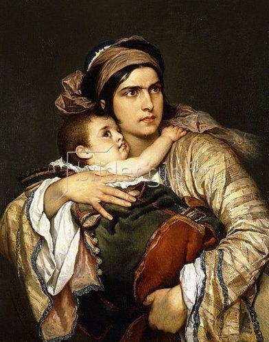 Cesare Felix Georges Dell'Acqua: Eine griechische Mutter. 1860