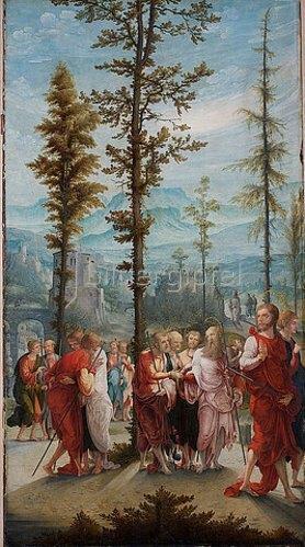 Süddeutsch: Der Abschied Christi von den Aposteln. Erste Hälfte des 16. Jahrhunderts.