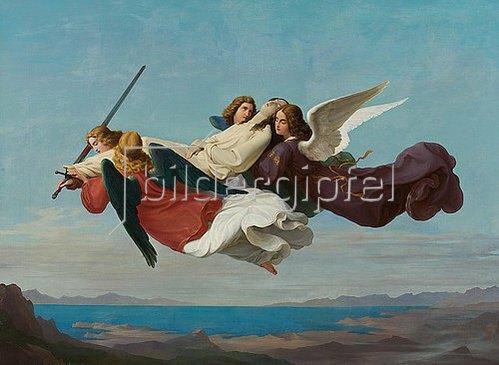 Heinrich Mücke: Übertragung des Leichnams der heiligen Katharina zum Berge Sinai. 1836