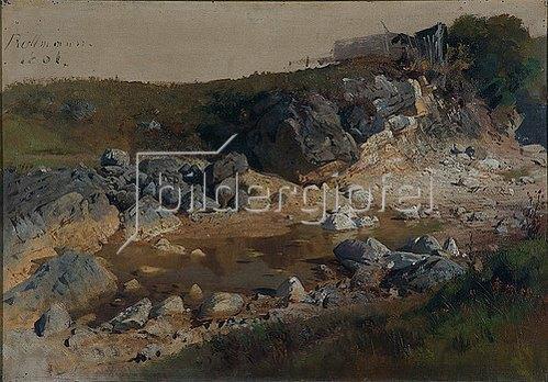 Julius Rollmann: Felsgeröll. 1861