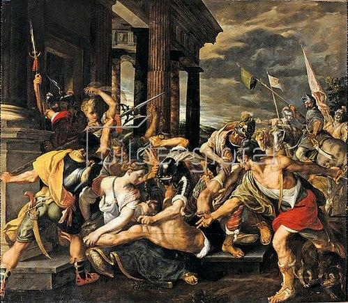 Jodocus van Winghe: Delilas Verrat und Samsons Gefangennahme durch die Philister. Um 1580