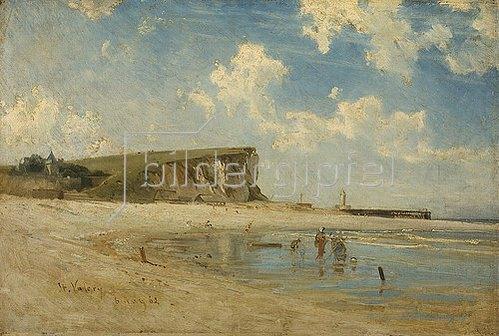 Ludwig Hugo Becker: Küstenlandschaft bei St. Valéry. 1862